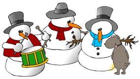 снеговик группы собаки Стоковое Изображение RF