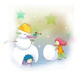 снеговик детей маленький иллюстрация штока