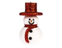 Снеговик изолированный на белизне Стоковые Изображения RF