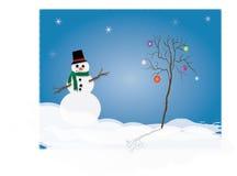 снеговик иллюстрации Стоковые Фотографии RF