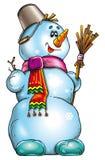 снеговик иллюстрации Стоковые Фото