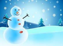 снеговик иллюстраций стоковое изображение