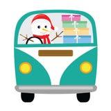 Снеговик и подарки Стоковая Фотография