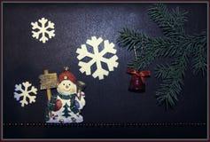 Снеговик и рождество Стоковое фото RF