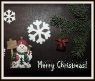 Снеговик и рождество Стоковые Изображения RF