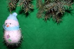 Снеговик и рождество Стоковое Фото