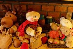 Снеговик и друзья Стоковые Фото