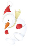 Снеговик - иллюстрация вектора рождества Стоковое Фото
