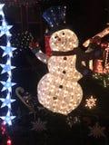 Снеговик катания на коньках стоковое изображение