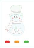 Снеговик книжка-раскраски Стоковое Изображение