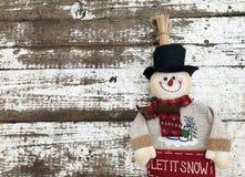 Снеговик Кристмас с шарфом Стоковые Фотографии RF