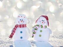 Снеговик на снеге Стоковое Изображение RF