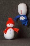 Снеговик пар мягкая игрушка Стоковое фото RF