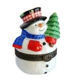 Снеговик подарка рождества Стоковые Фото