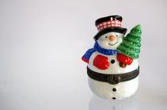 Снеговик подарка рождества Стоковое Фото