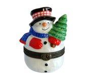 Снеговик подарка рождества Стоковое Изображение RF