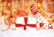 снеговик праздника предпосылки милый Стоковые Фото