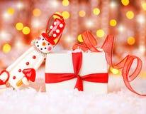 снеговик праздника предпосылки милый Стоковое Изображение
