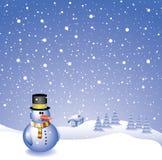 снеговик предпосылки Стоковое фото RF