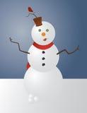 снеговик причудливый иллюстрация вектора