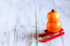 Снеговик плодоовощ Стоковые Фотографии RF