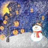 Снеговик рамки Стоковая Фотография