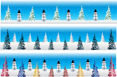 снеговик рождества знамен Иллюстрация вектора