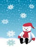 снеговик рождества милый играя иллюстрация вектора