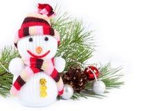 снеговик рождества предпосылки Стоковые Изображения