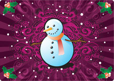 снеговик рождества предпосылки Стоковые Изображения RF