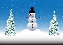 снеговик рождества предпосылки Иллюстрация штока