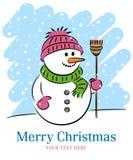 снеговик рождества иллюстрация вектора