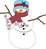 Снеговик рождества Стоковая Фотография