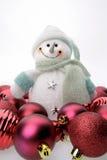 снеговик рождества шариков Стоковые Изображения RF