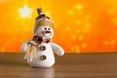 Снеговик рождества fairy поздравляет Стоковая Фотография