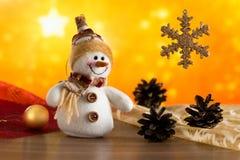 Снеговик рождества fairy поздравляет Стоковая Фотография RF