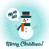Снеговик рождество веселое Иллюстрация вектора