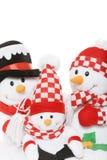 снеговик семьи рождества Стоковая Фотография
