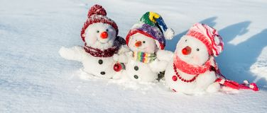 снеговик семьи счастливый Стоковые Фото