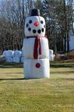 Снеговик сена Стоковое Фото