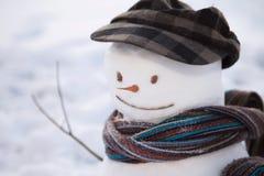 Снеговик с крышкой Стоковая Фотография