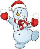 Снеговик также вектор иллюстрации притяжки corel Продажа продвижения Стоковая Фотография RF