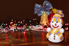 снеговик украшений рождества предпосылки Стоковые Изображения