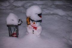 Снеговик холодный стоковые фотографии rf