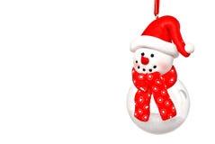 снеговик шарика стоковая фотография