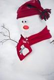 снеговик шарфа шлема Стоковые Фото