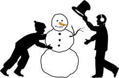 снеговик 01 бесплатная иллюстрация