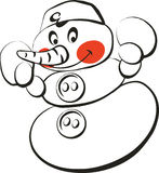 снеговик 2 иллюстрация вектора