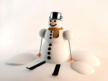Снеговик Стоковое Изображение