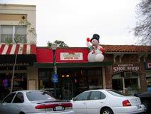 Снеговик, Claremont, Калифорния, США стоковые изображения rf
